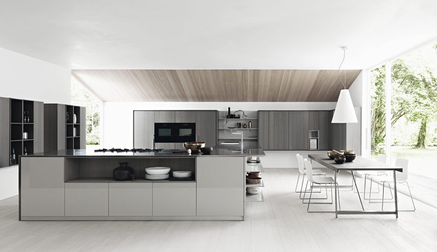 Cucine moderne Alba, cucine con gola, cucine Cesar Alba, Cucine Cesar, Cucine...
