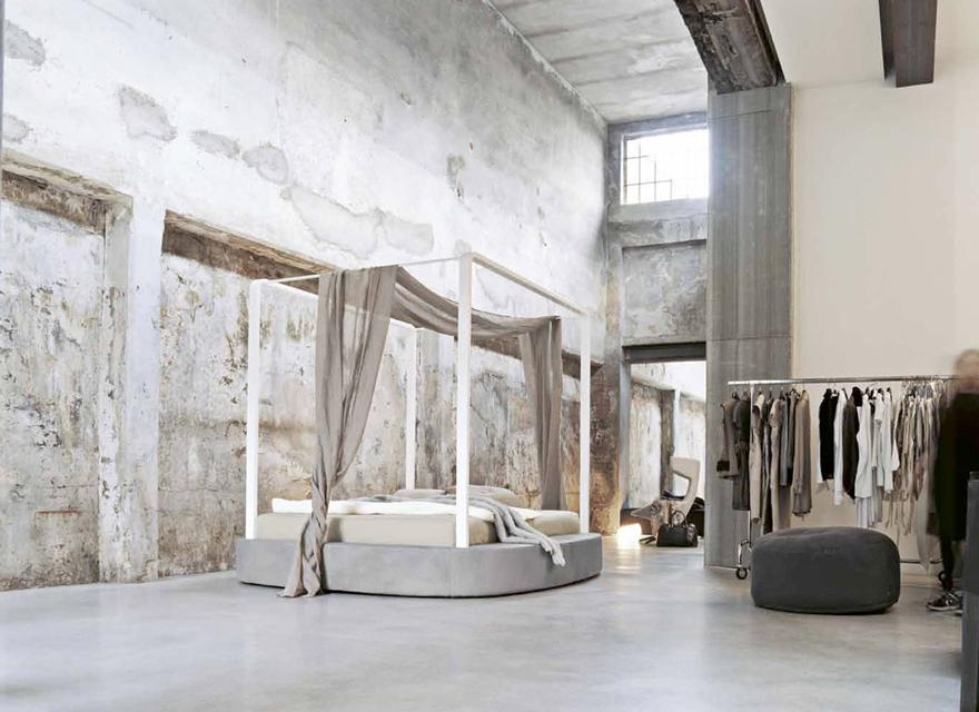 Camere da letto moderne alba gruppi letto laccato alba - Letto baldacchino moderno ...